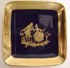 Decorative Arts Antiques Vintage Porcelain Olive Pen Pin Jewelry Tray Limoges France