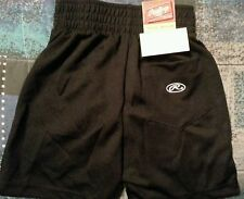 Rawlings youth Large black shorts with pocket NWT zipper in Front Ball Time