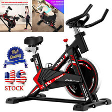 Indoor Stationary Exercise Bike Fitness Cycling Bicycle Movable Cardio Workout H