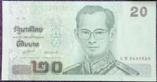 Thailand 20 Bahts uncirculate bank note