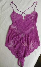 Victoria Secret - NWT Very Sexy Lace Teddy-Magenta (Pink) S