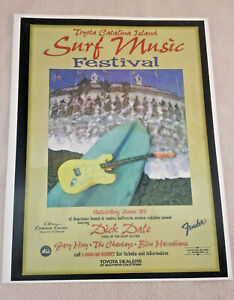 1980s Catalina Island Surf Music Festival featuring Dick Dale Playbill by Fender