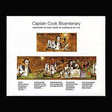 Australia, Sc #482a, Mnh, 1970, S/S, Capt Cook, Ships, Maps, 231*F