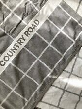 Country Road Luxury Velour Beach Towel **NEW W TAGS** Grey White Check