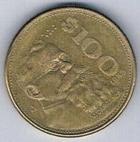 1985 MEXICO MEXICAN $100 PESO COIN EAGLE SNAKE
