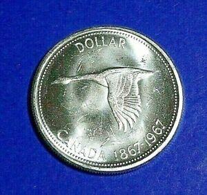 CANADA 1967 - SILVER DOLLAR CENTENNIAL WILD GOOSE BU UNCIRCULATED .800 SILVER
