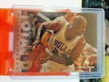 1995-96 Fleer TOTAL D Michael Jordan Insert CHICAGO BULLS 3 of 12 Gold Foil Mint
