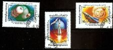 Afghanistan first voman Tereshkova  in space racket stamp set used