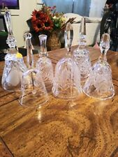 Mixed Lot Of 6 Glass Bells Some Marked Lead Crystal, various design