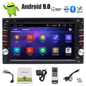 6.2'' Android 9.0 WiFi Double 2Din Car Radio Stereo GPS Navi CD DVD Player SWC