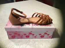 Top Moda Cycle 8 Sandal Women's Size 10 Color Brown cushion walk pad ankle strap