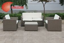BEACH LOUNGE POLYRATTAN 4PZ FURNITURE OUTER GARDEN HOME MOD. MAJORCA  ART.31467