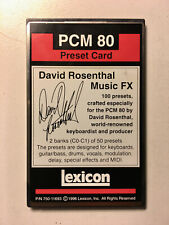 Lexicon PCM 80 David Rosenthal 100 presets card