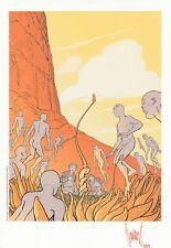 BIANCARELLI  Superbe  ex-libris couleur Hommage MOEBIUS n° et s° 162/250ex  TTBE
