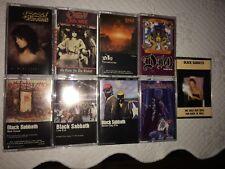 huge BLACK SABBATH lot 13 cassettes live evil mob rules Ozzy & DIO  heavy metal