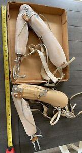 "Vintage Prosthetic Right Arm Hook Dorrance Stainless Hook 28"" + Long Lot 2"
