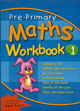 Pre Primary Activity Books Maths Workbook 1 early year numbers counting solving