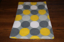 New Yellow Grey Polka Dots Fleece Dog Cat Pet Carrier Blanket Pad Free S/H! Bcr