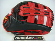 "New ZETT Special Orde 13"" Outfield Baseball / Softball Glove Red Black RHT SALE"