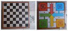 Scacchiera grande Fournier in legno senza scacchi con tabellone Non t'arrabbiare