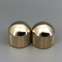 2 Pieces Dome Gold Guitar Knobs Vintage 52 Style For Telecaster Guitar