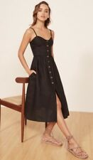 NWT $198.00 Reformation Thelma Dress, Size 4 Black Button Down Dress SOLD OUT