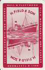 Vintage Swap / Playing Card - 1 SINGLE - FISH MERCHANTS ADVERT WITH BOAT