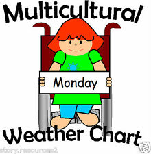 WEATHER CHART multicultural resource EYFS CHILDMINDER Teaching Resources KS1 SEN
