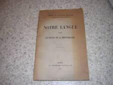 1923.notre langue dans le bassin de la Méditerranée