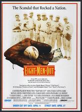 EIGHT MEN OUT__Original 1989 Trade Print AD movie promo__JOHN CUSACK__baseball