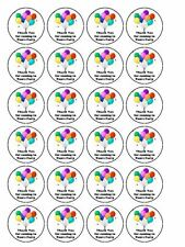 "30 x Thank You for coming/Party 1.5"" PRE-CUT PREMIUM RICE PAPER Cupcake Toppers"