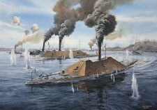 """Fredericksburg at Trent's Reach"" Tom Freeman Naval Art - Civil War Ironclads"