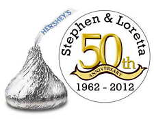 216 GOLDEN ANNIVERSARY 50TH ANNIVERSARY PARTY FAVORS HERSHEY KISS LABELS