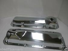Chrome Ford 351c 351m 400m Valve Covers Tall  1970 + Steel