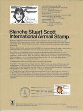 #C99 28c Blanche Stuart Airmail Stamp Poster - Unofficial Souvenir Page Fd HC