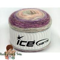 Cakes Alpaca Ice Yarn LILAC PINK PURPLE GRAY Alpaca Wool Acrylic DK Weight 399yd