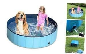 Foldable Dog Pool for Large Dog, Collapsible Pet Dog Swim 120x30cm 48 inch
