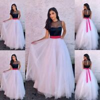Womens Formal Lace Dress Wedding Evening Party Bridesmaid Cocktail Tulle Dresses