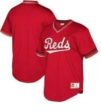 Mitchell & Ness Cincinnati Reds Baseball Jersey New Mens Sizes MSRP $90.00