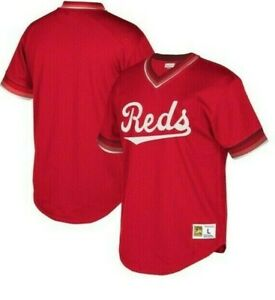 Mitchell & Ness Cincinnati Reds Baseball Jersey New Mens Sizes MSRP $90.00