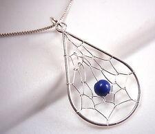Blue Lapis Dream Catcher Necklace 925 Sterling Silver Corona Sun Jewelry
