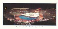 1992 Olympic Games Barcelona, original panoramic postcard.