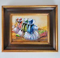Las Tuneras Yanque Colca Valley Peru Watercolor Painting 17x14 Signed