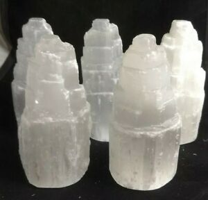 Selenite tower, 3.75in. - 4in., 1 piece, Morocco, read description, gypsum