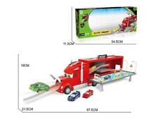 Truck transport with cars. Carrier folds down to provide play area. Free P&P