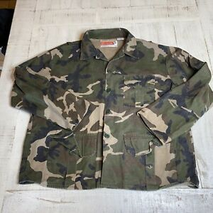 VTG Winchester Tree Camouflage L/S Hunting Button Up Shirt XL Outdoor USA