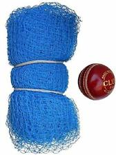 Quality 20 X 10 Ft Nylon Cricket Practice Net with 1 Leather Ball 2 Part Side Us