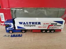 Herpa 146630 LKW H0 1:87 Scania Walther Transporte - OVP