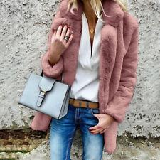 Women Teddy Bear Fluffy Coats Winter Warm Fleece Fur Jacket Overcoat Outwear Top