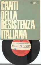 """RARO """"Canti della Resistenza Italiana n° 5 """" Dischi del Sole n° 34 (3/1966)"""